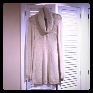 BCBG long sleeve cowl neck sweater dress